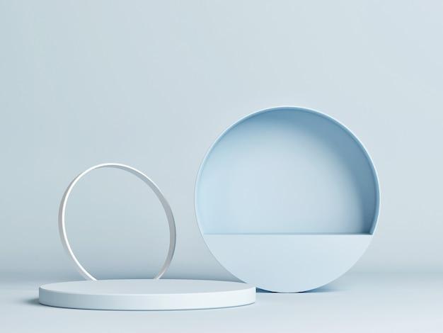 製品プレゼンテーションのための抽象的な表彰台の青い背景