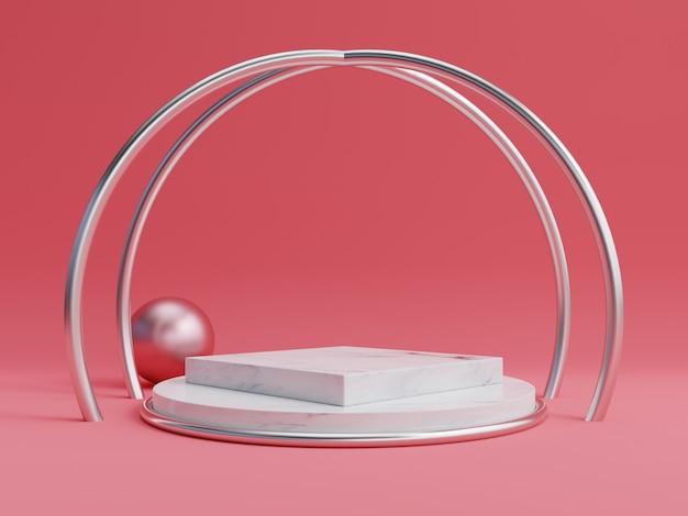 製品を配置し、賞品を配置するための抽象的な表彰台