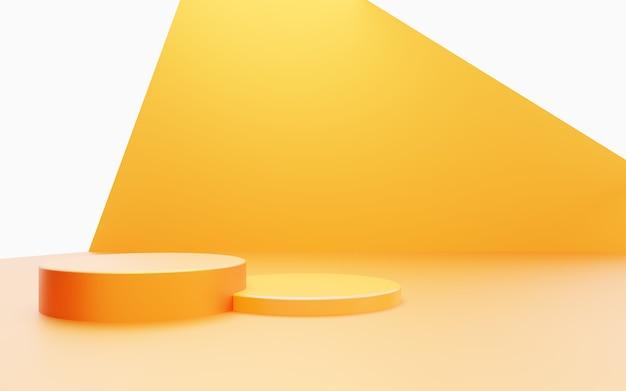 Abstract podium minimal background