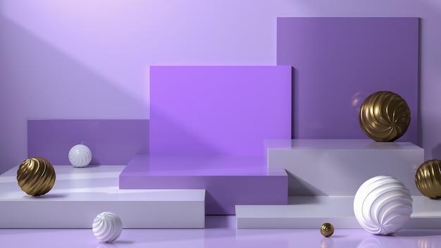 Абстрактный подиум пастельная цветовая композиция фиолетовый пастельный фон подиума