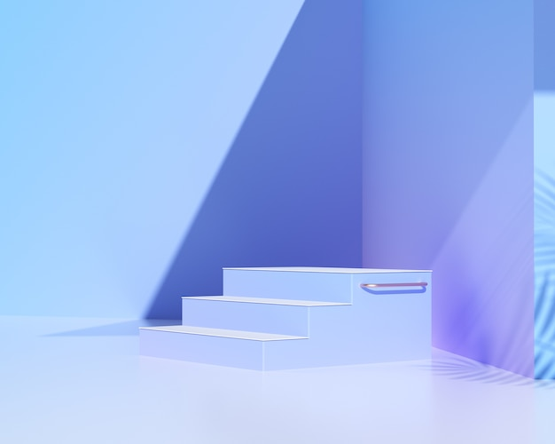 Abstract podium for product showcase. 3d rendering.