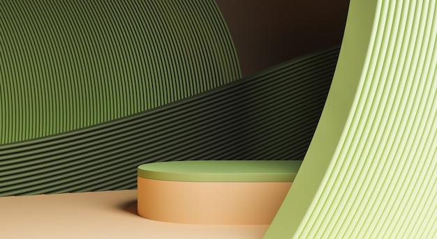 曲線のある抽象的な表彰台