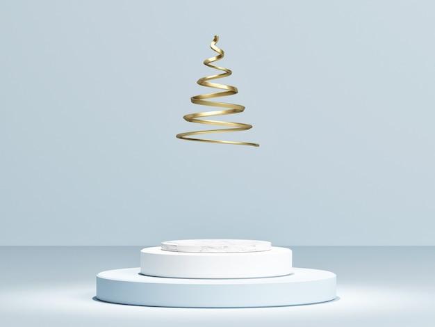 황금 나선형 크리스마스 3 추상 연단