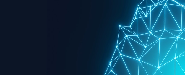 接続点と抽象的な多角形の幾何学的な線。