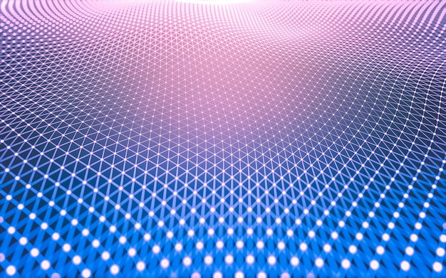 Abstract polygonal space low poly dark background.
