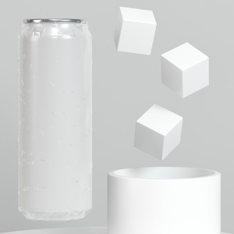 Abstract pop top can presentation with sugar cubes