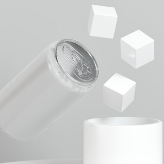 Абстрактная оловянная презентация поп-топ с кубиками сахара