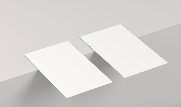 Abstract position of empty business cards