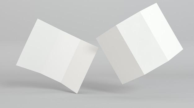 三つ折りパンフレット印刷テンプレートの抽象的な位置