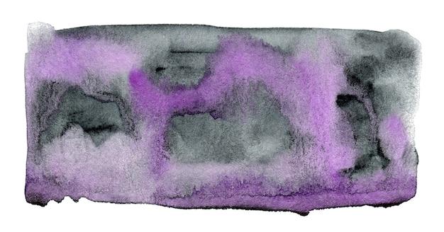 白い背景で隔離の抽象的な紫と灰色の水彩画の形