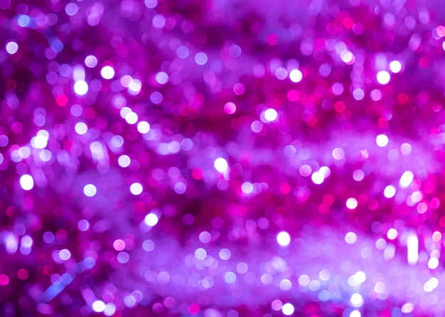 Abstract purple background with bokeh