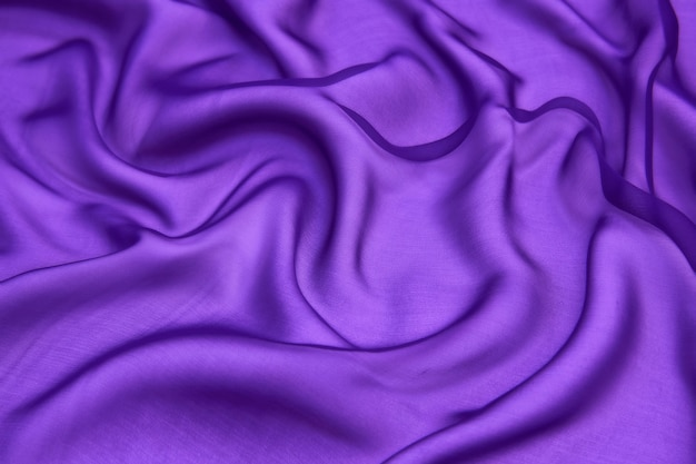 Abstract purple color silk chiffon fabric texture background.