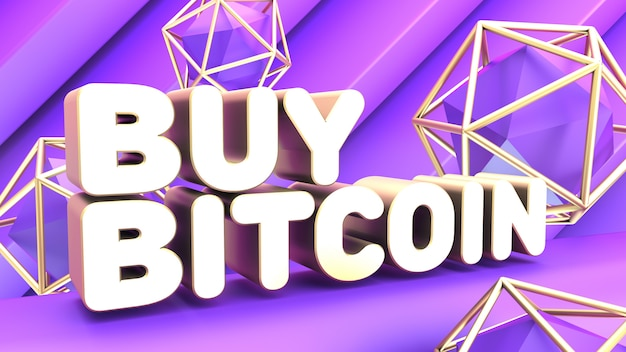 Abstract purple cryptocurrency poster
