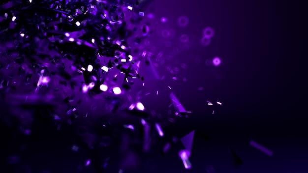 抽象的な紫色の暗い青色の背景。 3dレンダリング。
