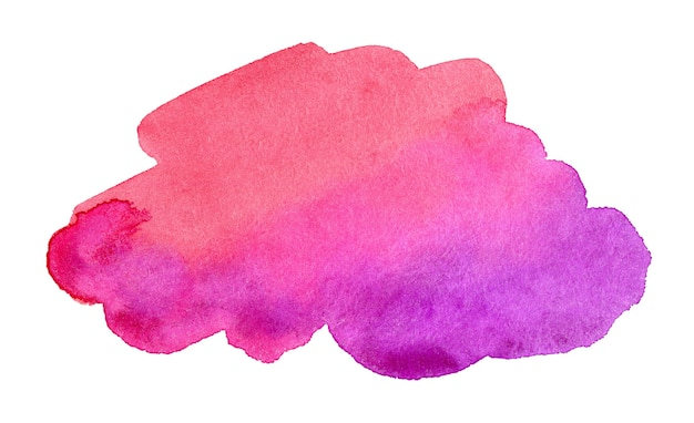 Abstract purple and pink watercolor background hand drawn watercolor spot