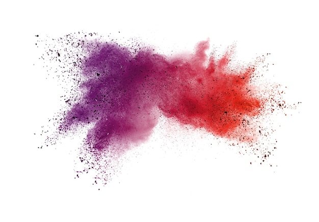 抽象的な紫色の粉の爆発