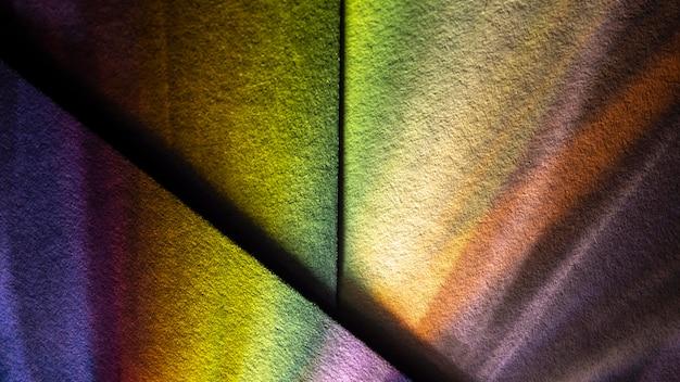 초록 무지개 밝은 빛 프리즘 효과