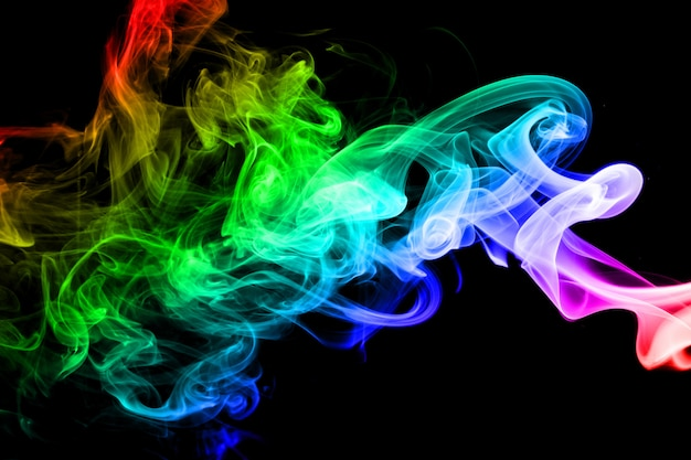 Abstract rainbow smoke background
