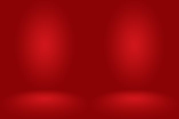 Progettazione del layout di san valentino di natale astratto sfondo rosso, studio
