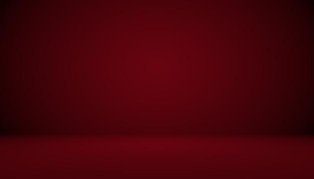 抽象的な赤い背景クリスマスバレンタインレイアウトデザイン、スタジオ、部屋、webテンプレート、滑らかな円のグラデーションカラーのビジネスレポート。