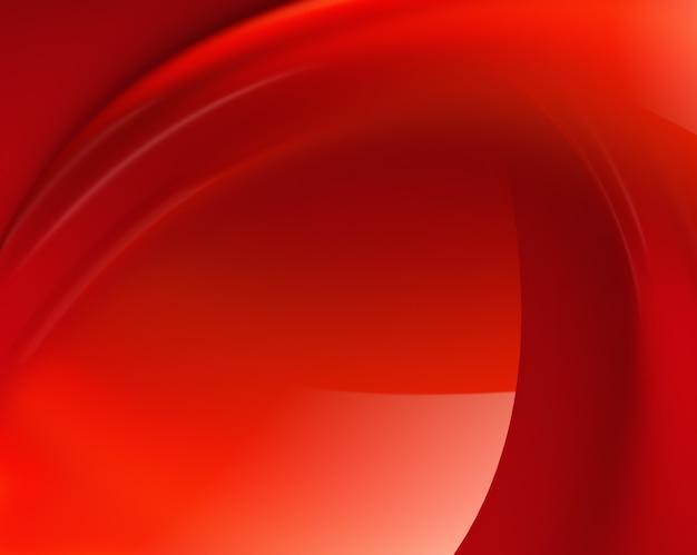 流れる波と抽象的な赤い背景