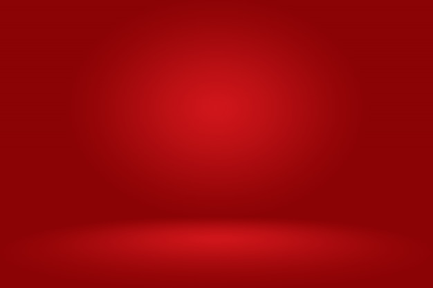 Abstract red empty room