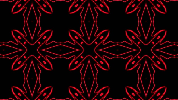 Abstract red geometric seamless pattern background premium photo