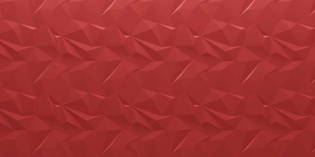 추상 붉은 기하학 벽
