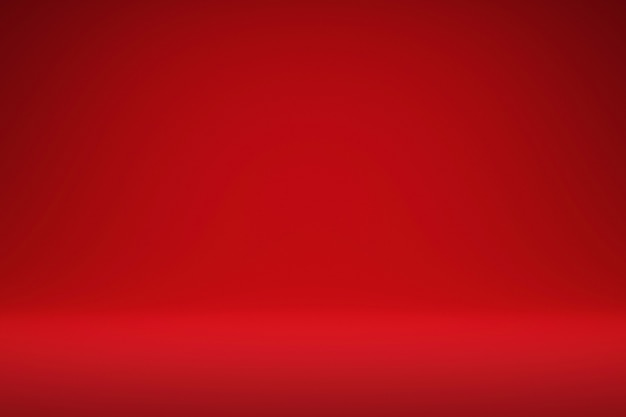 Abstract red and gradient light background  realistic 3d render.