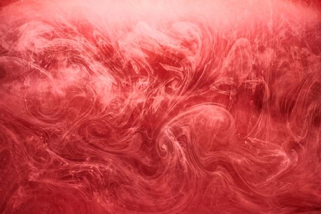 Абстрактный красный фон океана, рубиновые краски в воде, яркие яркие дымовые алые обои