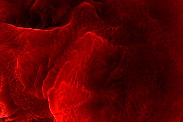 추상적인 붉은 바다 외계행성 하늘, 알코올 잉크 배경, 용암 폭발, 주홍색 얼룩과 얼룩, 아크릴 벽지 인쇄 재료