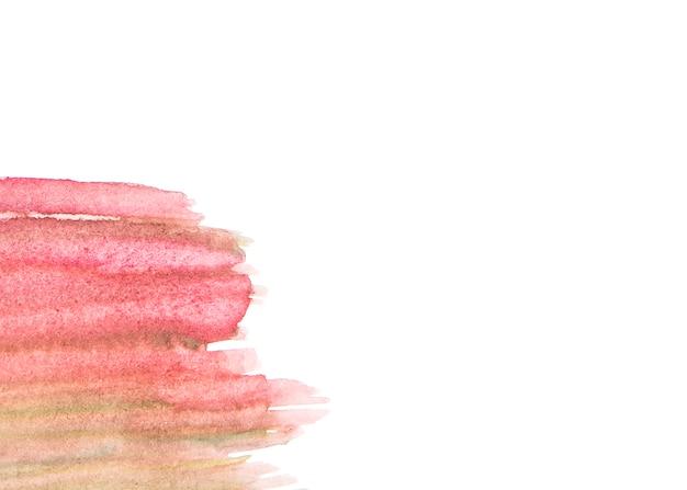 白い紙の赤い塗料を抽象化