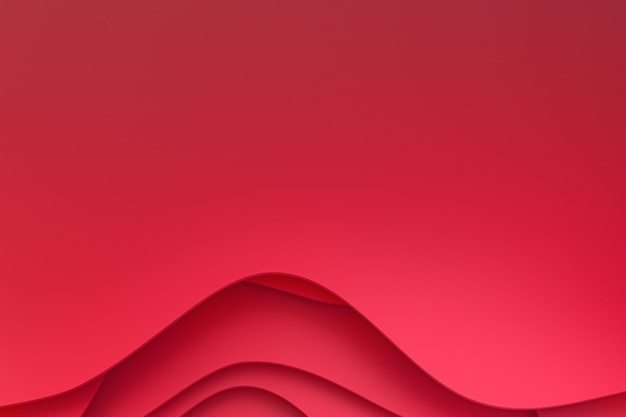 Abstract red paper cut background design for promotion of social media banner