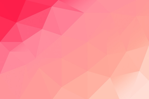Abstract red pink low poly background. crative polygonal backdrop