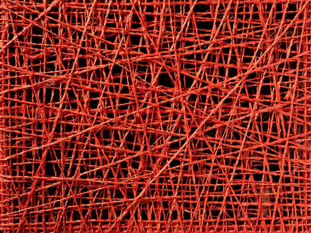 Abstract red thread texture of irregular lines