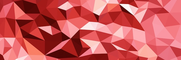Abstract red triangle shape background