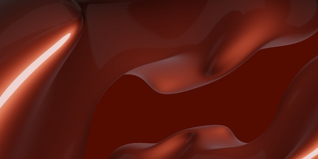 Abstract red water drop shape free shape glossy texture