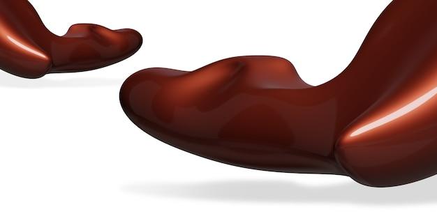 Абстрактная красная форма капли воды свободная форма глянцевая текстура