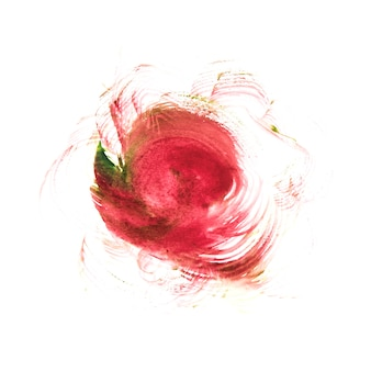 紙に描かれた抽象的な赤い水彩