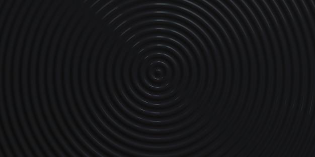 抽象的な波紋円波状の水円光沢のある揺れの背景3dイラスト
