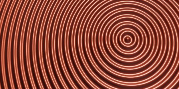 抽象的な波紋の円波状の水円光沢のある揺れの背景3dイラスト