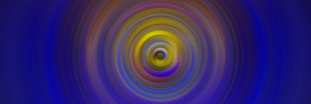 Abstract round blue background. circles from the center point. image of diverging circles. rotation that creates circles.