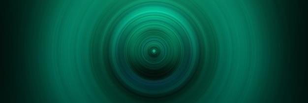 Абстрактный круглый зеленый фон. круги от центральной точки. изображение расходящихся кругов. вращение, создающее круги.