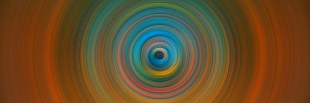 Абстрактный круглый оранжевый фон. круги от центральной точки. изображение расходящихся кругов. вращение, создающее круги.