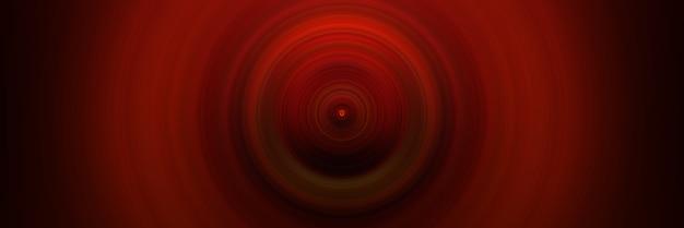 Абстрактный круглый красный фон. круги от центральной точки. изображение расходящихся кругов. вращение, создающее круги.