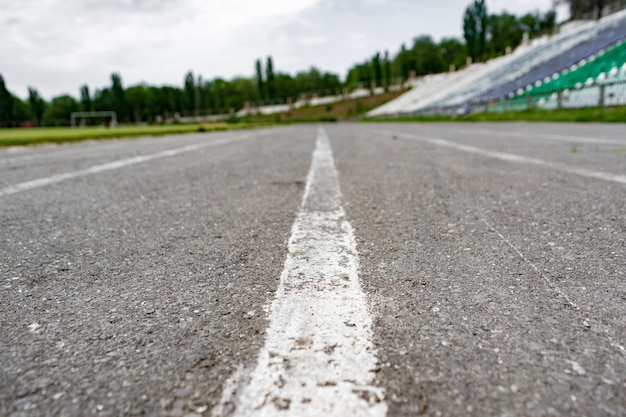 Abstract running track asphalt at the stadium backgrounds