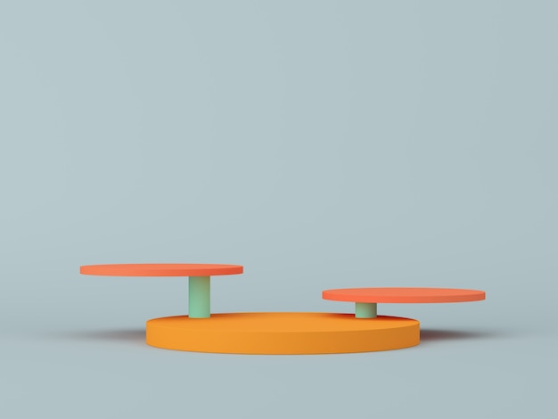 Abstract  scene for display. 3d rendering