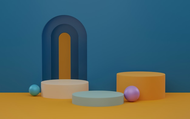 製品の3dレンダリングの抽象的なシーン。