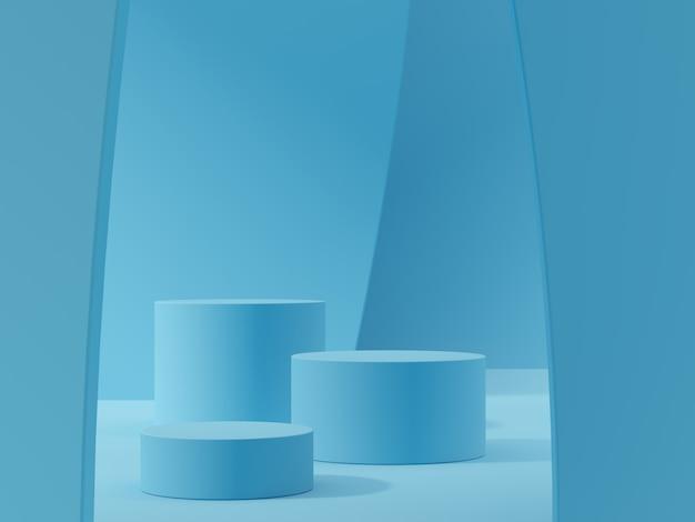 제품 디스플레이에 대한 추상 장면. 3d 렌더링