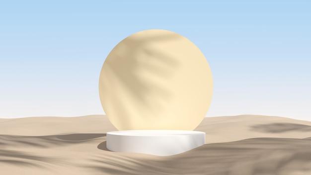 Абстрактная сцена для отображения продукта. 3d рендеринг